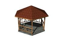 wooden gazebo model