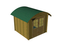 gardening wooden cottage 3D model