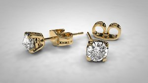 diamond earing 3D model