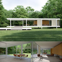 3D model farnworth house