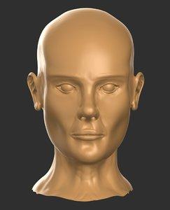 3D human head model