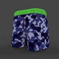 3D model mens shorts