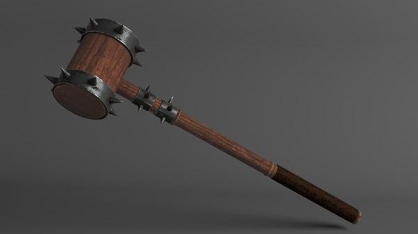 3D model medieval mace