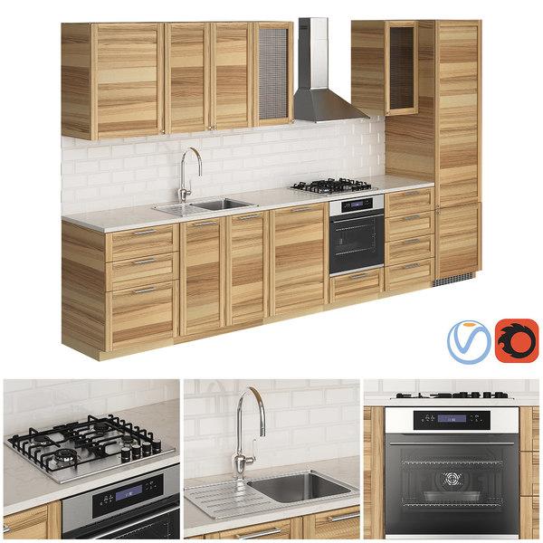 kitchen ikea metod torhamn 3D model