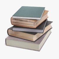 pile books 3D model