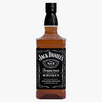 jack daniels tennessee whiskey 3D model