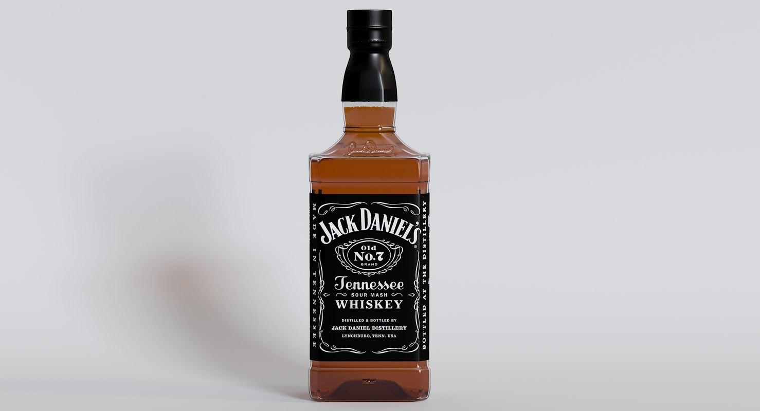 jack daniels tennessee whiskey 3D model