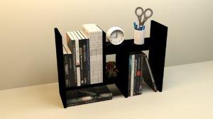 3D desk shelf model