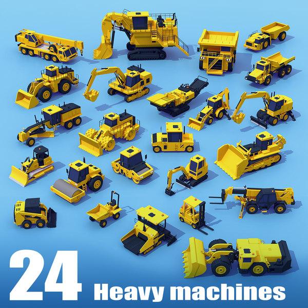 3D model machinery mega heavy