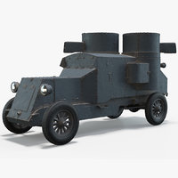 3D austin-putilovets armored car model