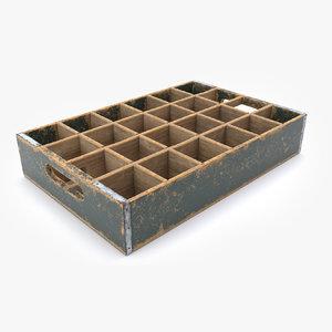 wooden bottle crate 3D