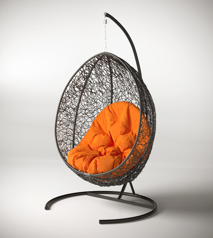 3D swing cocoon hanging rotan