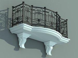 architectural balcony model