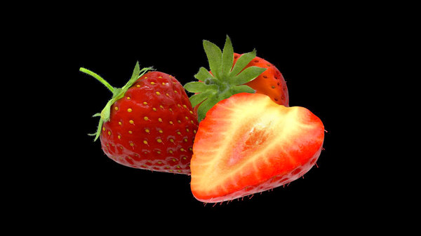 berry strawberry 3D model