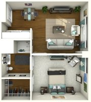 3D floorplan lighting