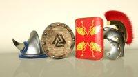 Viking and Roman Helmets