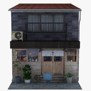 old tokyo diner 3D