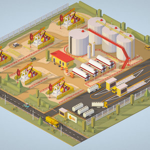 3D model isometric production setting