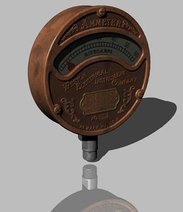vintage ammeter weston electrical 3D model