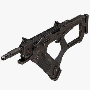 3D sci fi weapon