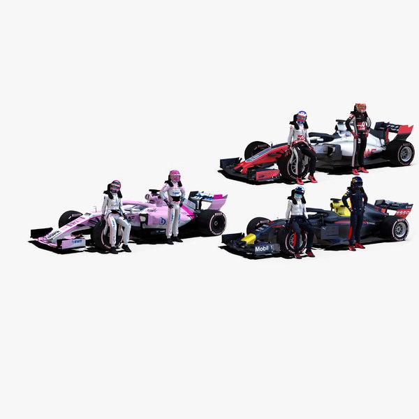 formula 2018 1 3D model
