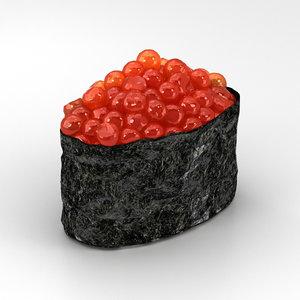 3D model sushi ikura