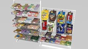candy racks 3D