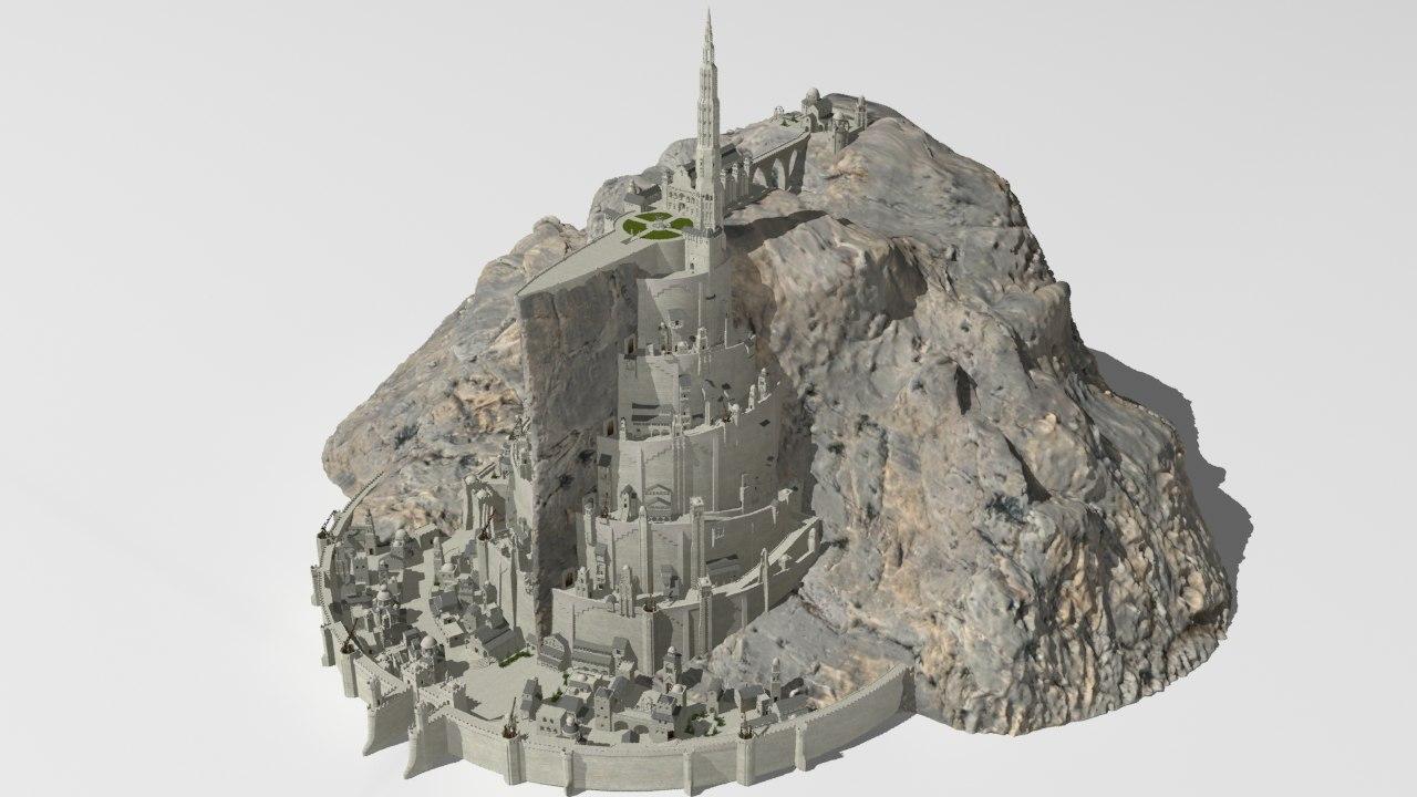 3D city minas tirith
