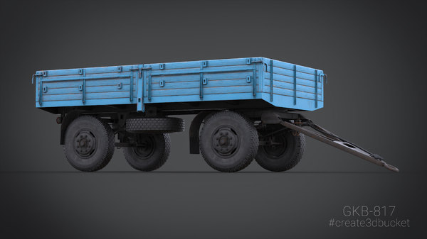 two-axle trailer gkb-817 3D model
