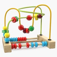 3D colorful wooden educational wire model