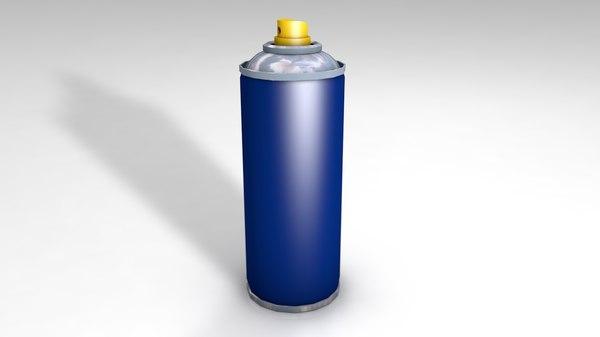 3D model spray aerosol