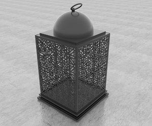 moroccan lantern interior design 3D model