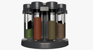 3D spice jars stand