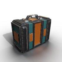 3D case suitcase suit model