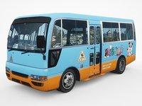 2002 nissan civilian bus 3D model