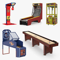 Arcade Games 3D Models Collection 3