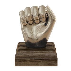 3D kingston hand fist decor