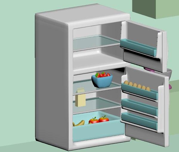 refrigerator food 3D model