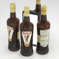 3D bottle alcohol