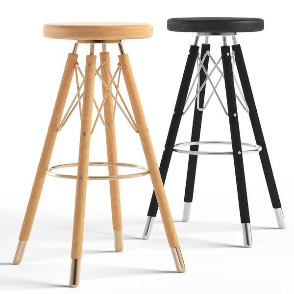 cult living moda bar stool 3D model