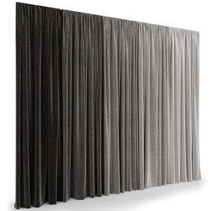 realistic curtains model