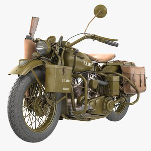 3D model motorcycle wla 1942 vehicle