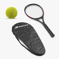 Tennis Equipment 3D Models Collection