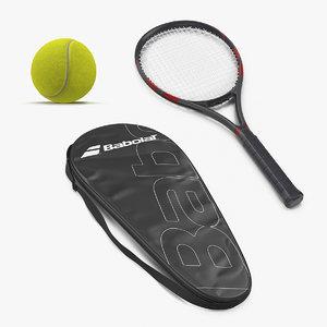 3D tennis equipment model