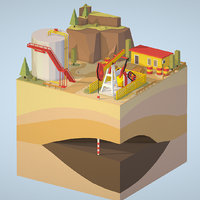 3D isometric production model