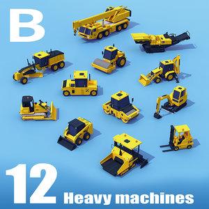 3D machinery medium pack heavy