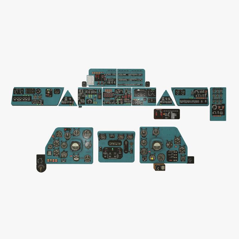panels boards mi-8mt mi-17mt 3D