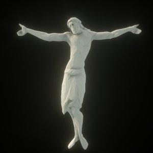 sculpture cross 3D model