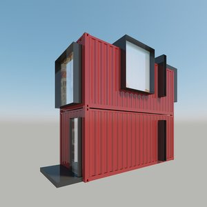 3D modern house contains