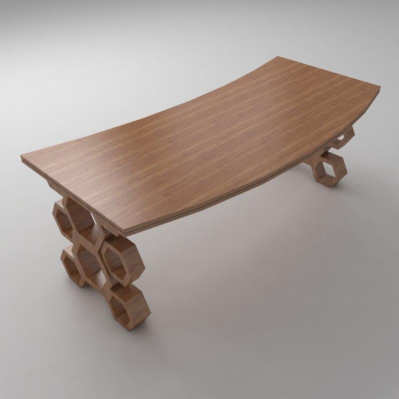 designed office desk 3D model